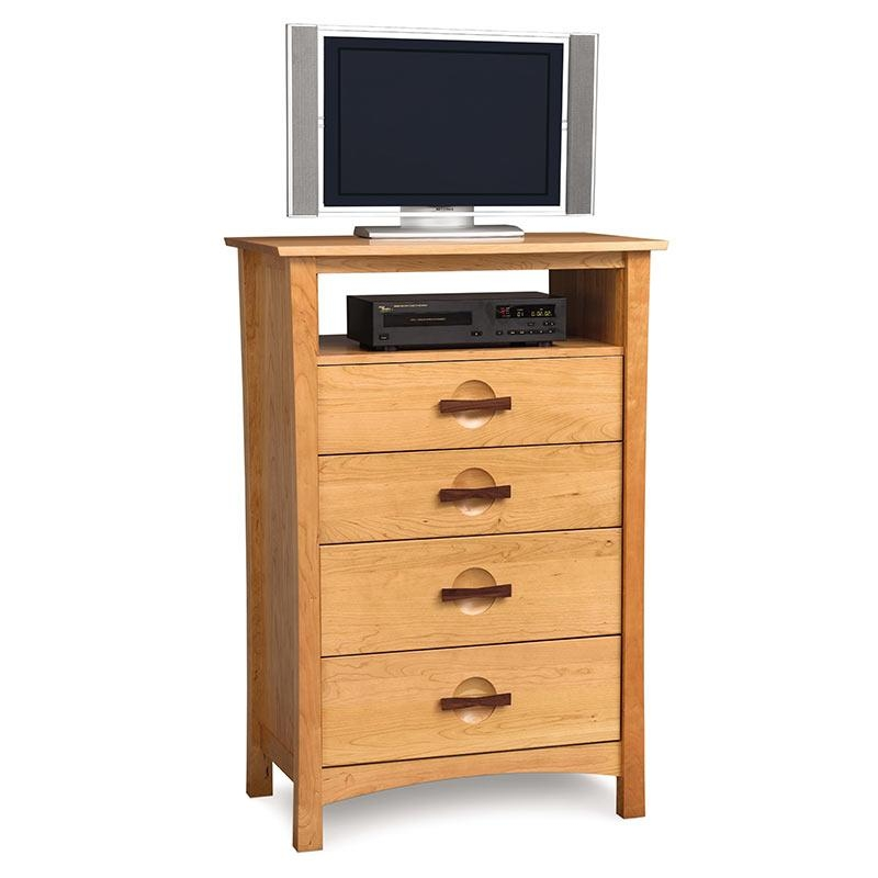 Catalina Walnut Tv & Media Wall Unit | American Made Living Room Inside Most Recent Tall Skinny Tv Stands (View 5 of 20)