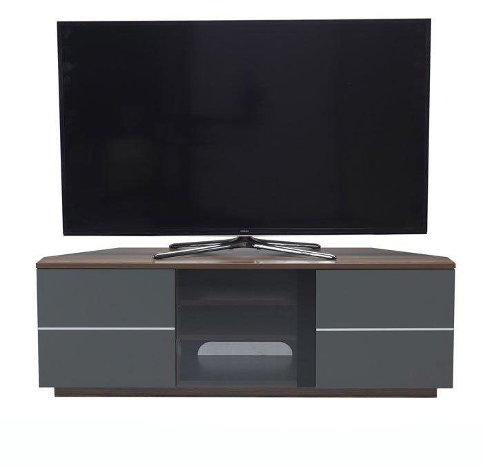 Cf New Milan Walnut And Grey Tv Cabinet Within Newest Walnut Corner Tv Stands (View 8 of 20)