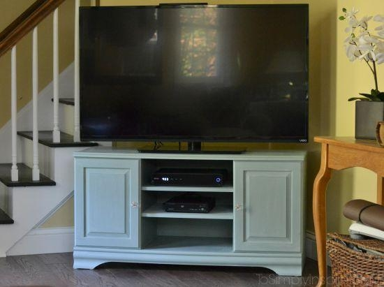 Chalk Paint Tutorial – Tv Stand Makeover Intended For Recent Painted Tv Stands (Image 7 of 20)