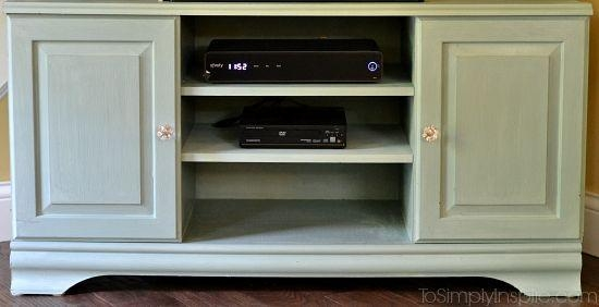 Chalk Paint Tutorial – Tv Stand Makeover Pertaining To Newest White Painted Tv Cabinets (Image 11 of 20)