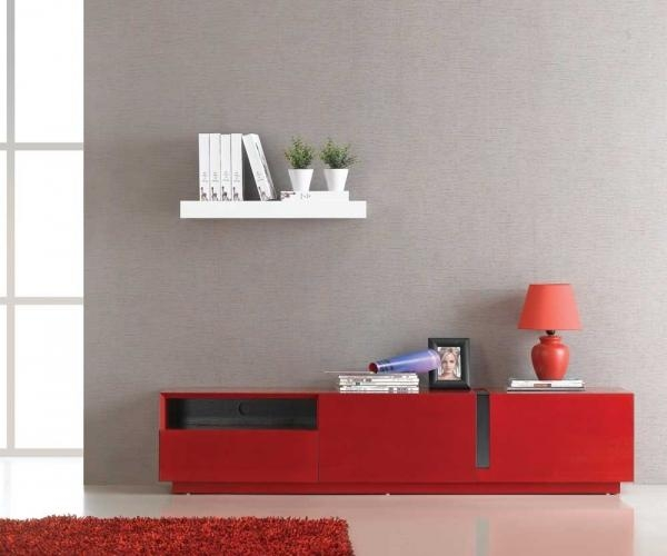 Charmful Sauder Black Tv Stand Sauder Tv Stand Black Home Design Regarding Most Up To Date Red Gloss Tv Cabinet (View 15 of 20)