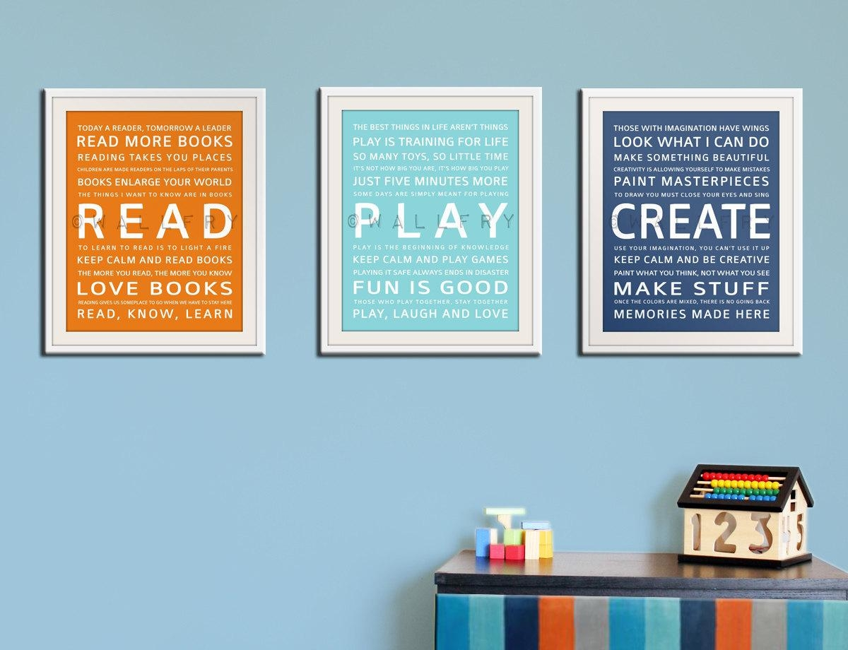 Charming Etsy Playroom Wall Art Playroom Wall Art The Playroom Throughout Playroom Rules Wall Art (Image 6 of 20)