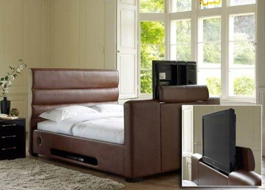 Chav Bed For The Boudiorbarcelona 32 Inch Tv Bed – Dark Tan For 2017 32 Inch Tv Bed (Image 9 of 20)