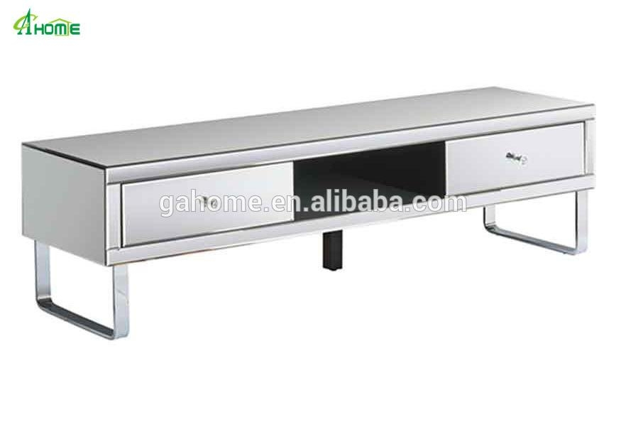 Chelsea Mirrored Media Tv Cabinet Stand – Buy Media Tv Cabinet Intended For Latest Mirrored Tv Cabinets (Image 7 of 20)