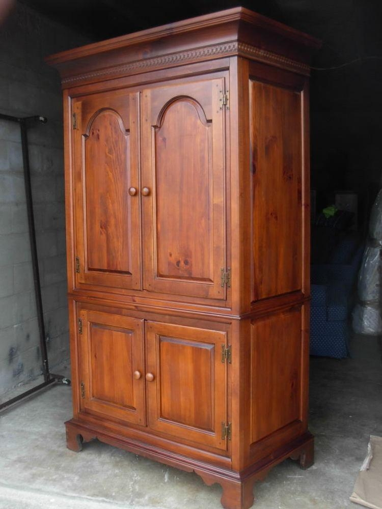 Cherry Armoire | Ebay Pertaining To Most Recent Cherry Tv Armoire (Image 3 of 20)