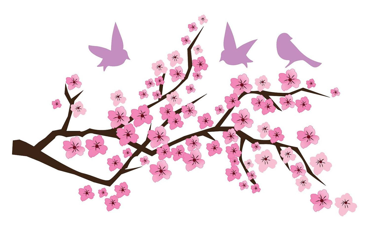 Cherry Blossom Art | Free Download Clip Art | Free Clip Art | On Inside Cherry Blossom Vinyl Wall Art (View 19 of 20)