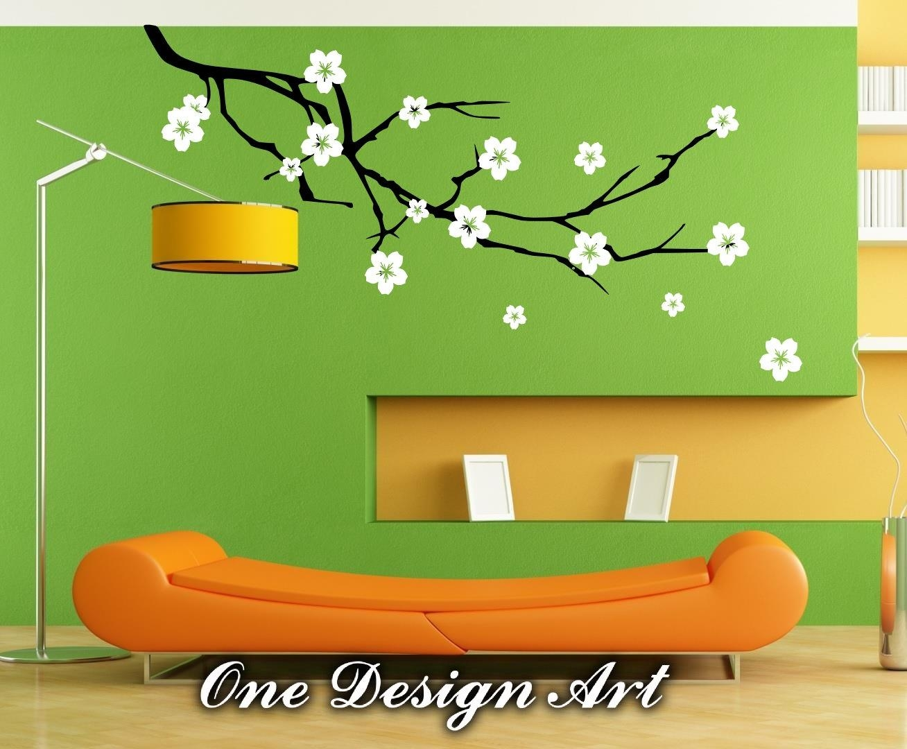 Cherry Blossom Flower Wall Decals Mural Decal Vinyl Sticker Throughout Cherry Blossom Vinyl Wall Art (View 7 of 20)