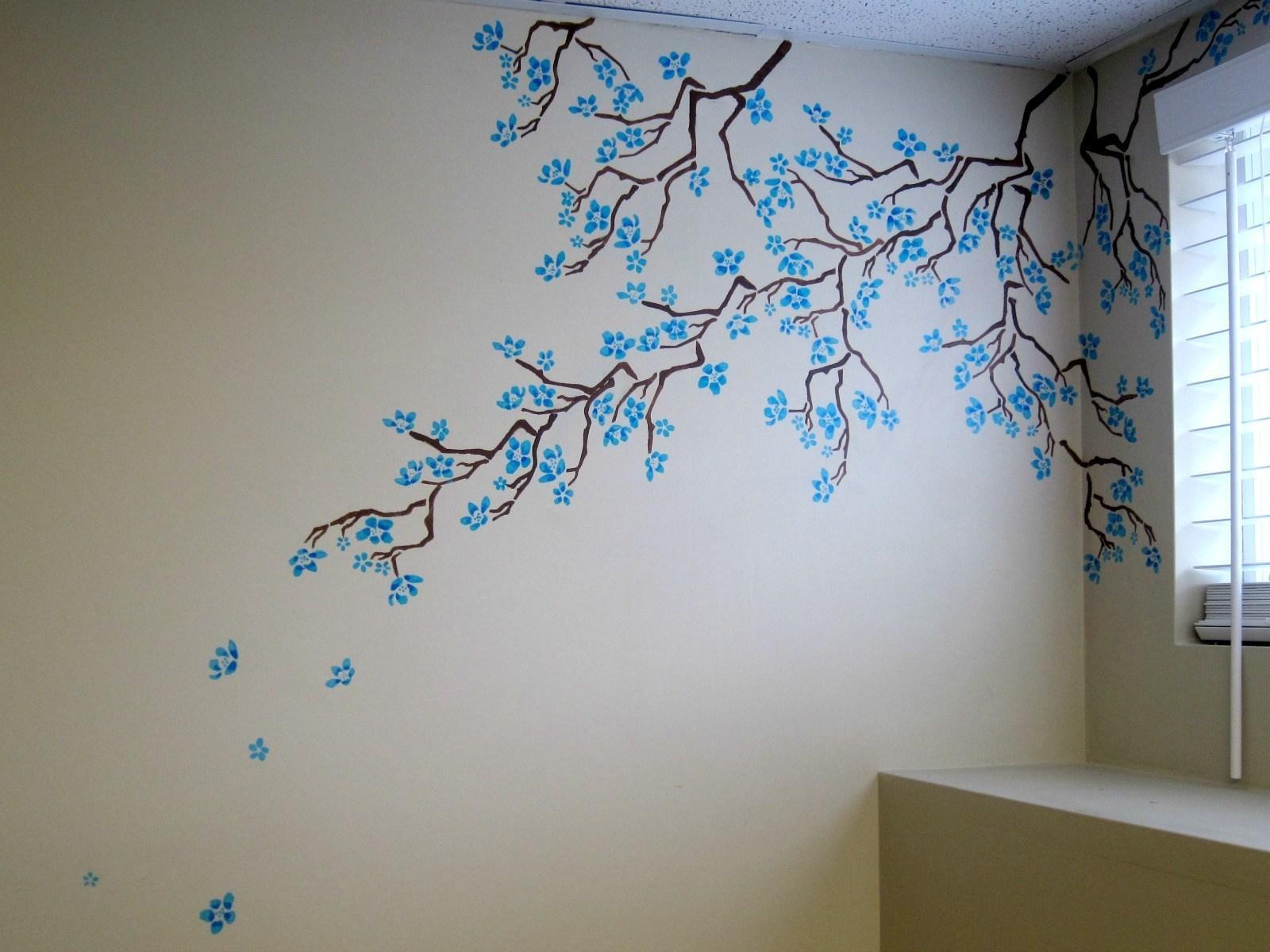 Дерево сакуры на стене своими руками как нарисовать 31