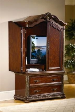 Cherry Tv Armoire – Foter Regarding Most Up To Date Cherry Tv Armoire (Image 6 of 20)