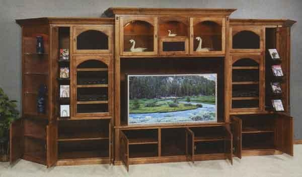 Cherry Wall Tv Cabinet – Clear Creek Amish Furniture, Waynesville Inside Best And Newest Big Tv Cabinets (View 14 of 20)