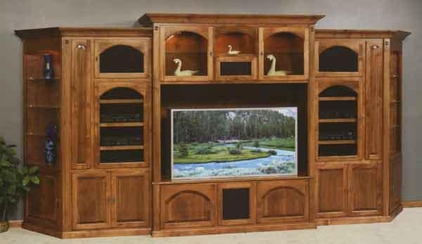 Cherry Wall Tv Cabinet – Clear Creek Amish Furniture, Waynesville Pertaining To Most Current Large Tv Cabinets (Image 8 of 20)
