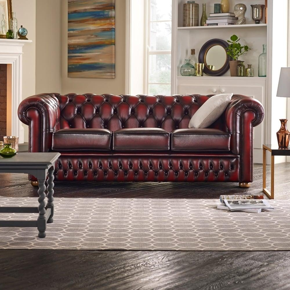 Chesterfield 3 Seater Sofa & Chair In Vele Black – From Sofas Inside Chesterfield Black Sofas (View 9 of 20)