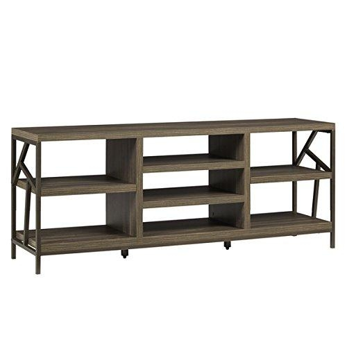 Chic Console Style Design Lincoln Metal Accent Storage Media Intended For 2018 Open Shelf Tv Stands (Image 4 of 20)
