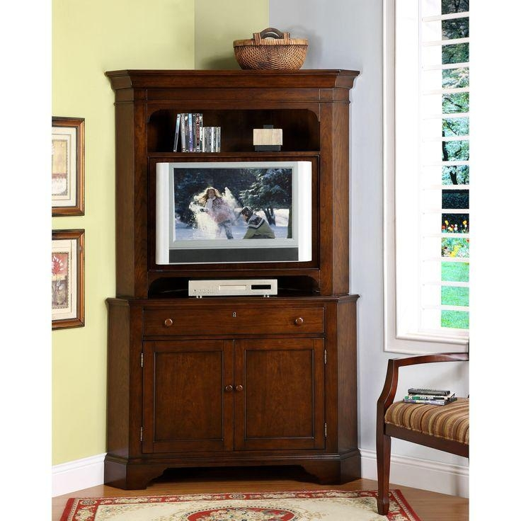 Chic Tall Corner Tv Cabinets For Flat Screens Tv Stands Small Regarding Most Current Corner Tv Cabinets For Flat Screen (View 11 of 20)