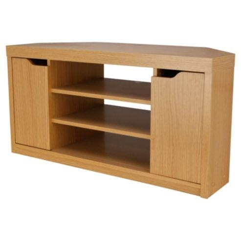 Featured Image of Oak Effect Corner Tv Stand