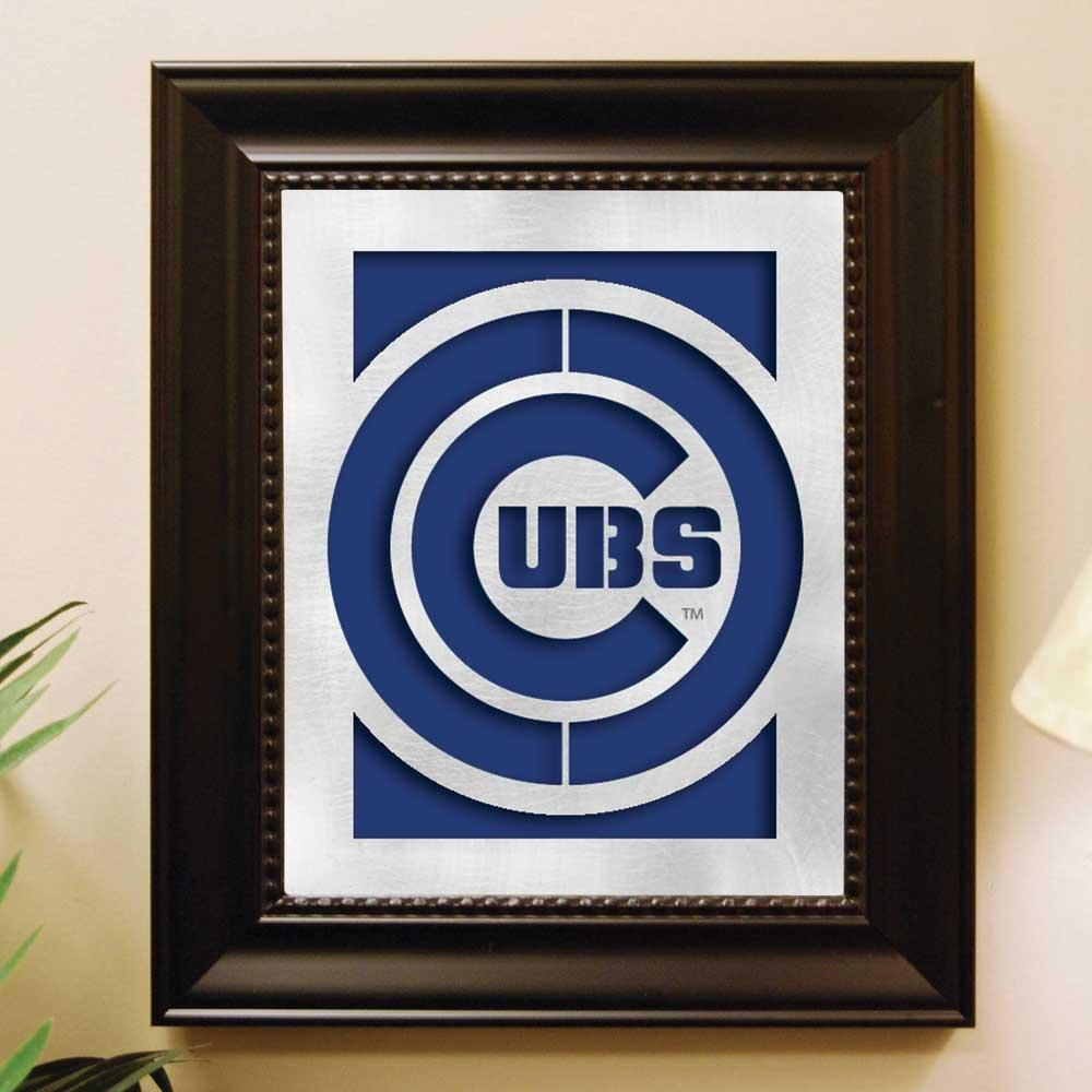 Chicago Cubs Laser Cut Wall Art – With Brushed Metal Team Logo Regarding Chicago Cubs Wall Art (View 4 of 20)