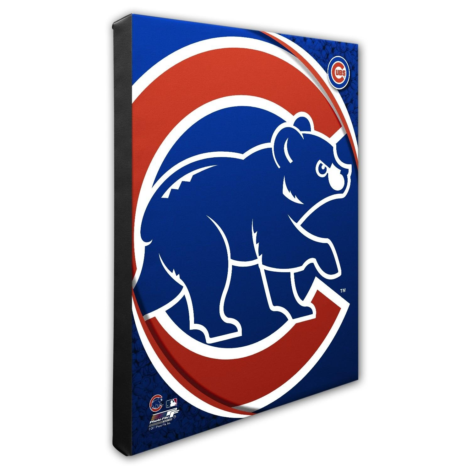 Chicago Cubs Logo Pop Art Canvas | Chicago Tribune Store In Chicago Cubs Wall Art (View 12 of 20)