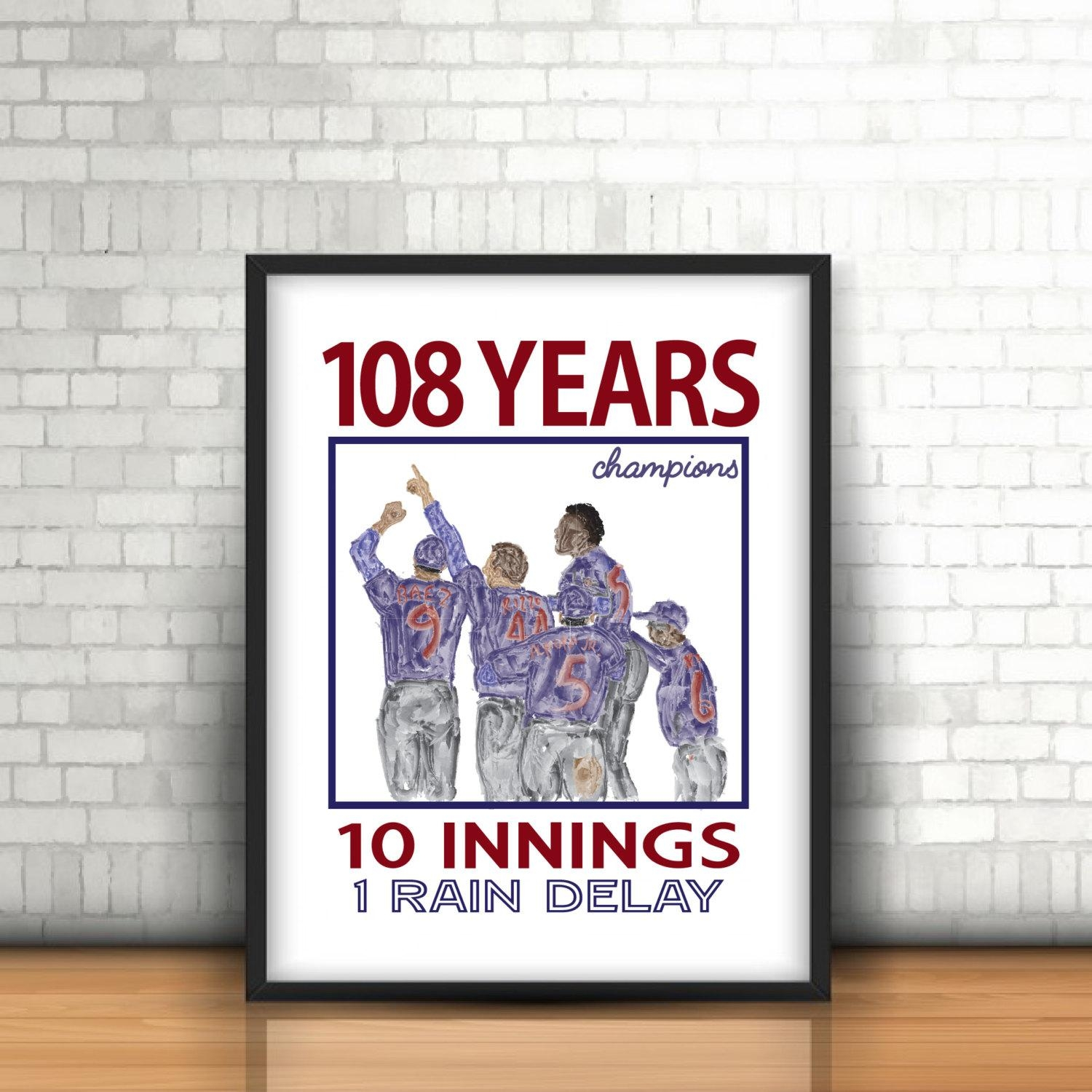Chicago Cubs World Series Champions Printable Wall Art Regarding Chicago Cubs Wall Art (View 9 of 20)