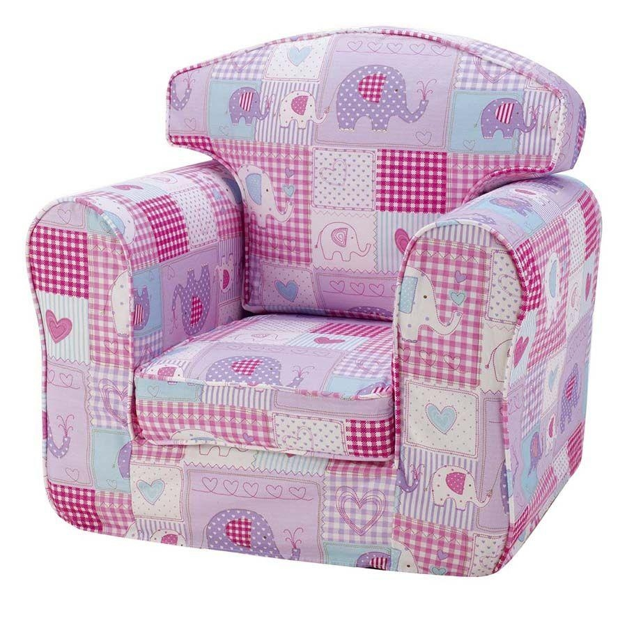 Children's Chair Single Sofa – Patchwork Elephants Intended For Children Sofa Chairs (View 9 of 22)