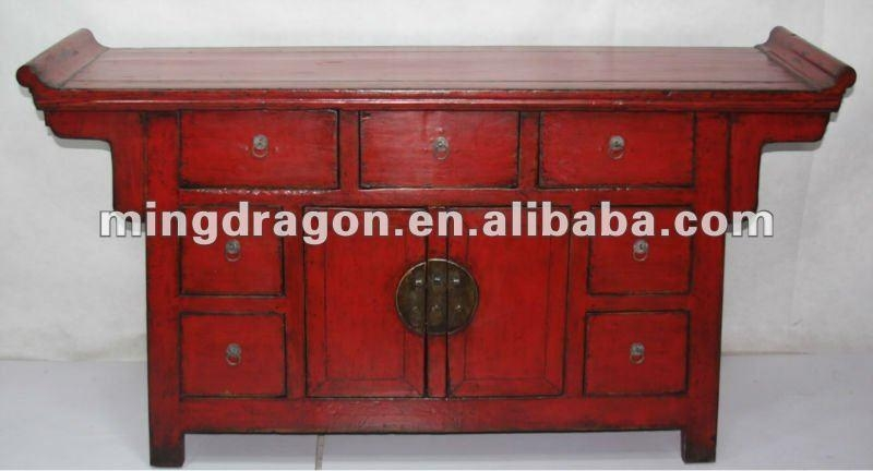 Chinese Antique Red Tv Cabinet – Buy Chinese Red Wedding Cabinet With Most Recent Red Tv Cabinets (Image 9 of 20)