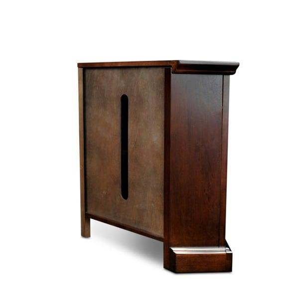 Chocolate Bronze 46 Inch Corner Tv Stand & Media Console – Free With Regard To Most Popular Cornet Tv Stands (Image 9 of 20)
