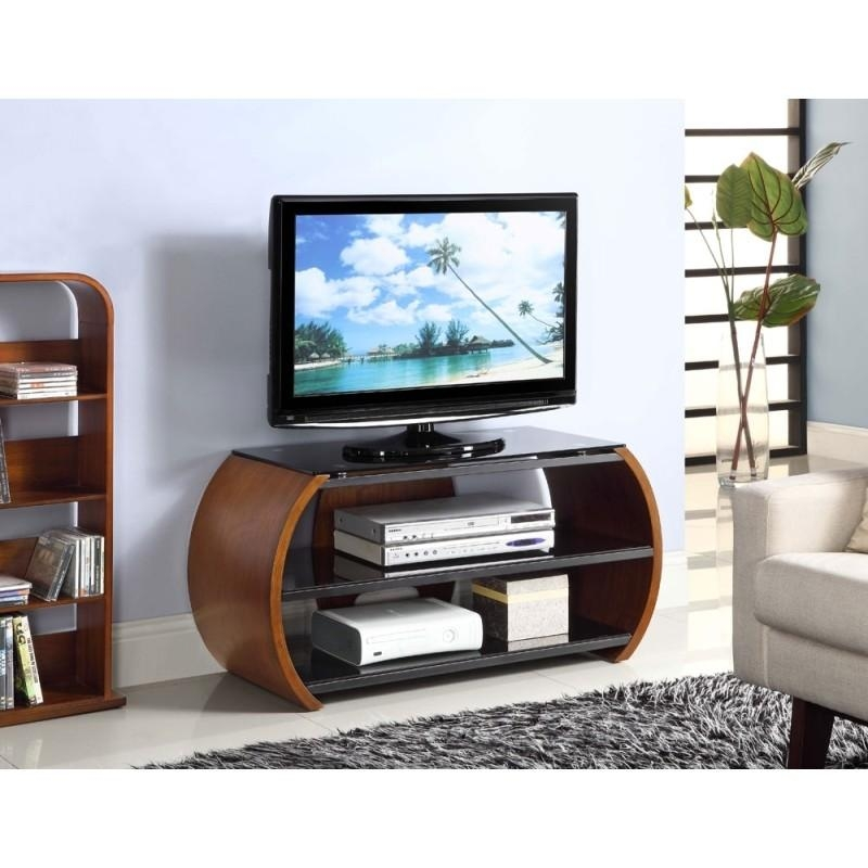 Choice Curved Walnut Open Tv Stand | Furniture4Yourhome Pertaining To Most Up To Date Curve Tv Stands (Image 9 of 20)
