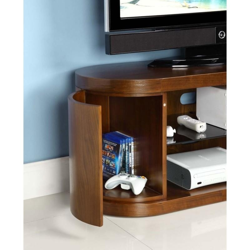 Choice Curved Walnut Tv Cabinet – Furniture4Yourhome.co (Image 9 of 20)