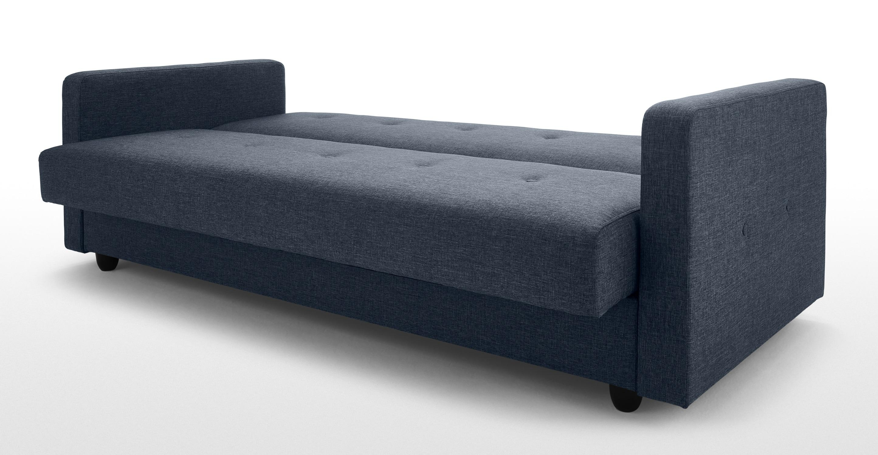 Chou Sofa Bed With Storage, Quartz Blue | Made In Sofa Beds With Storages (View 7 of 20)