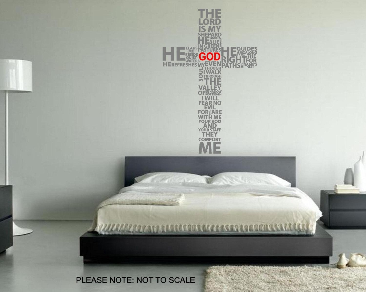 Christian Wall Decals Interest Christian Wall Decals – Home Decor Intended For Biblical Wall Art (View 20 of 20)