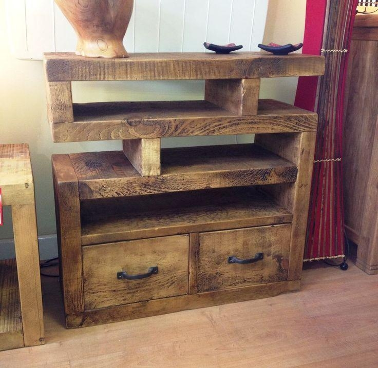 Chunky Funky Solid Wood Tv Unit Stand Cabinet Rustic Plank*choose Pertaining To Current Funky Tv Cabinets (View 13 of 20)