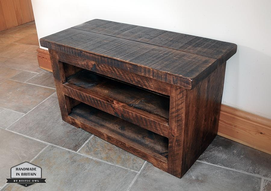Chunky Plank Tv Stand | Rustic Owl For Most Up To Date Chunky Oak Tv Unit (View 18 of 20)