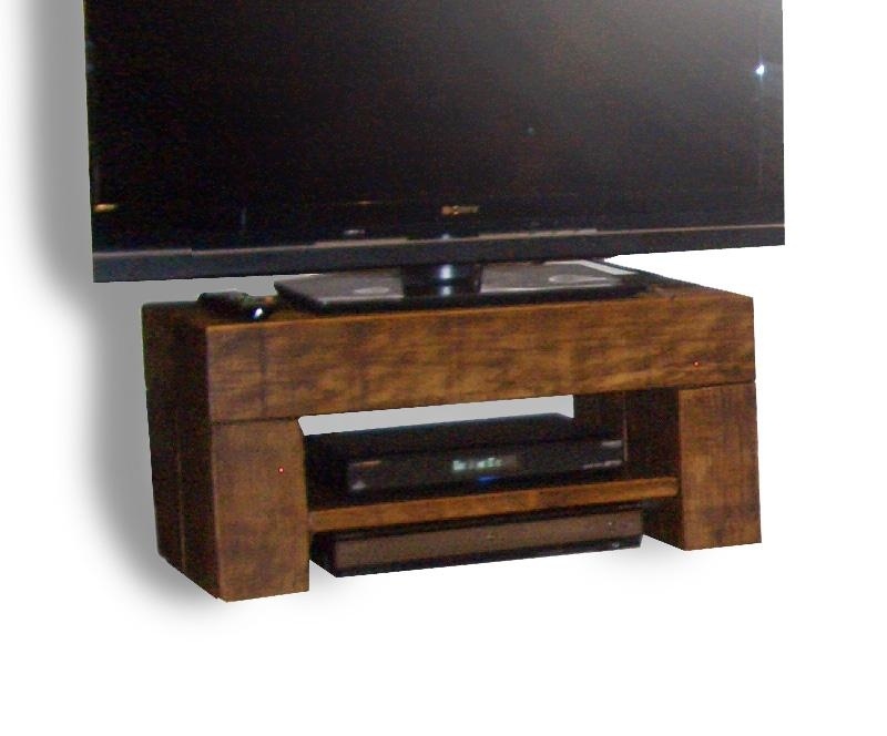 Chunky Step Tv Stand – The Cool Wood Company Pertaining To Newest Dark Wood Tv Stands (Image 6 of 20)