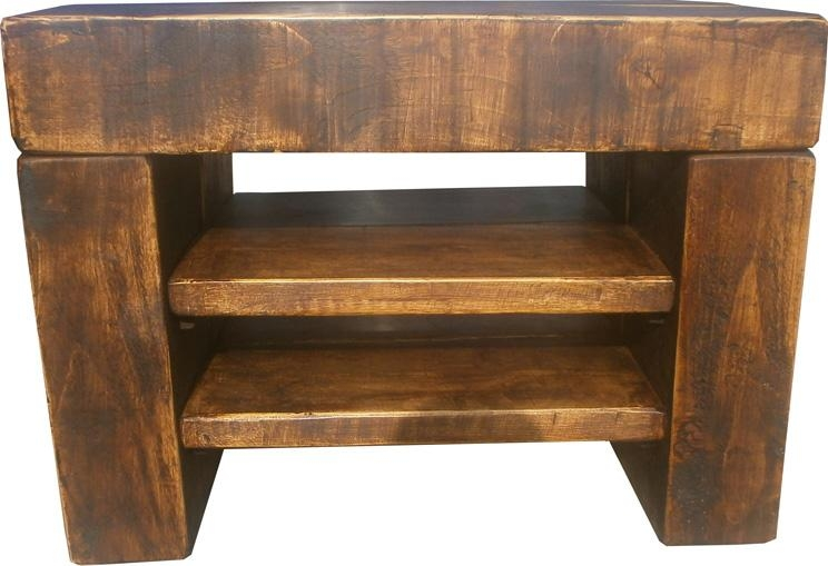 Chunky Step Tv Stand – The Cool Wood Company Within Most Current Chunky Wood Tv Unit (View 5 of 20)