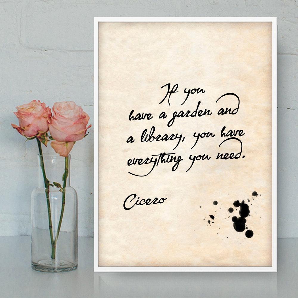 Cicero Quotes Printable Wall Art Gratitude Quotes Latin Within Printable Wall Art Quotes (View 19 of 20)