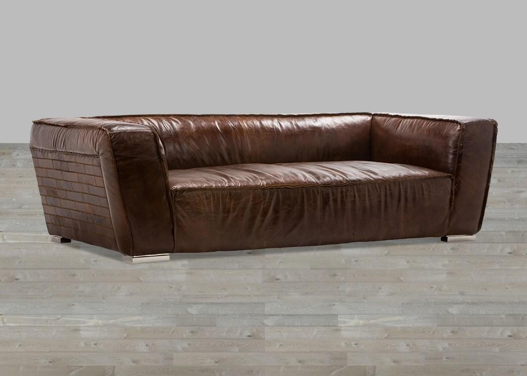 Cigar Brown Leather Sofa Within Vintage Leather Sofa Beds (Image 5 of 20)