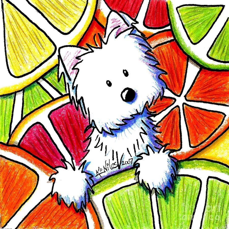 Citrus Westie Paintingkim Niles With Regard To Westie Wall Art (Image 4 of 20)