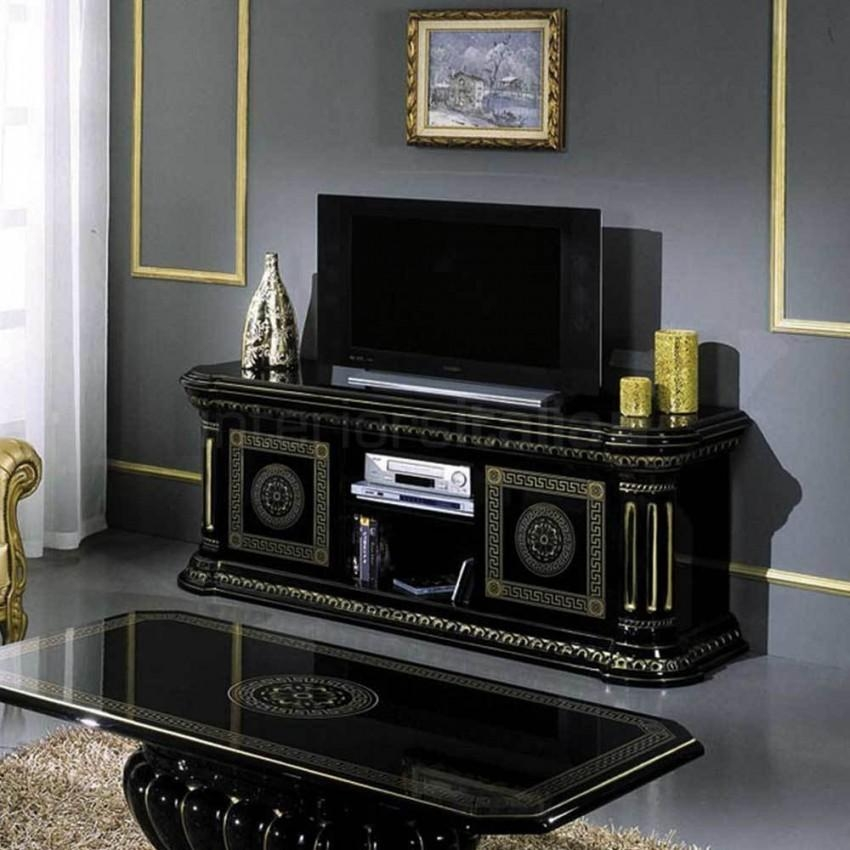 Classic Italian Tv Cabinet | Tv Unit | Caesar | Clearance With 2018 Gold Tv Cabinets (Image 9 of 20)