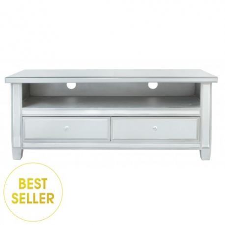 Classic Mirror Tv Stand / Entertainment Unit – Forever Furnishings Within Most Popular Mirrored Tv Stands (Image 5 of 20)