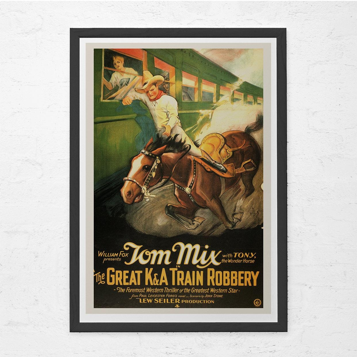 Classic Movie Poster Tom Mix Movie Poster Classic Western Inside Movie Themed Wall Art (Image 4 of 20)