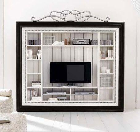 Classic Style Wooden Tv Wall Unit – Hampshire 8110 – Flai | Home Throughout Latest Classic Tv Cabinets (View 11 of 20)
