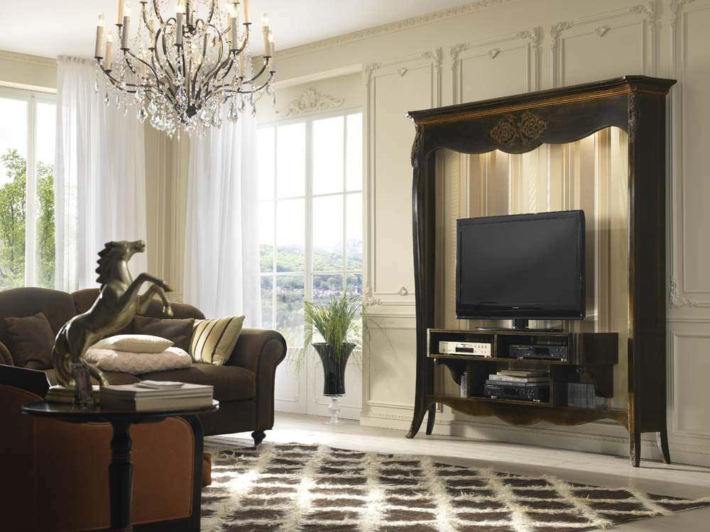 Classic Tv Cabinet / Wooden – Bisanzio : Cm42 – Pregno Regarding Newest Classic Tv Cabinets (View 7 of 20)