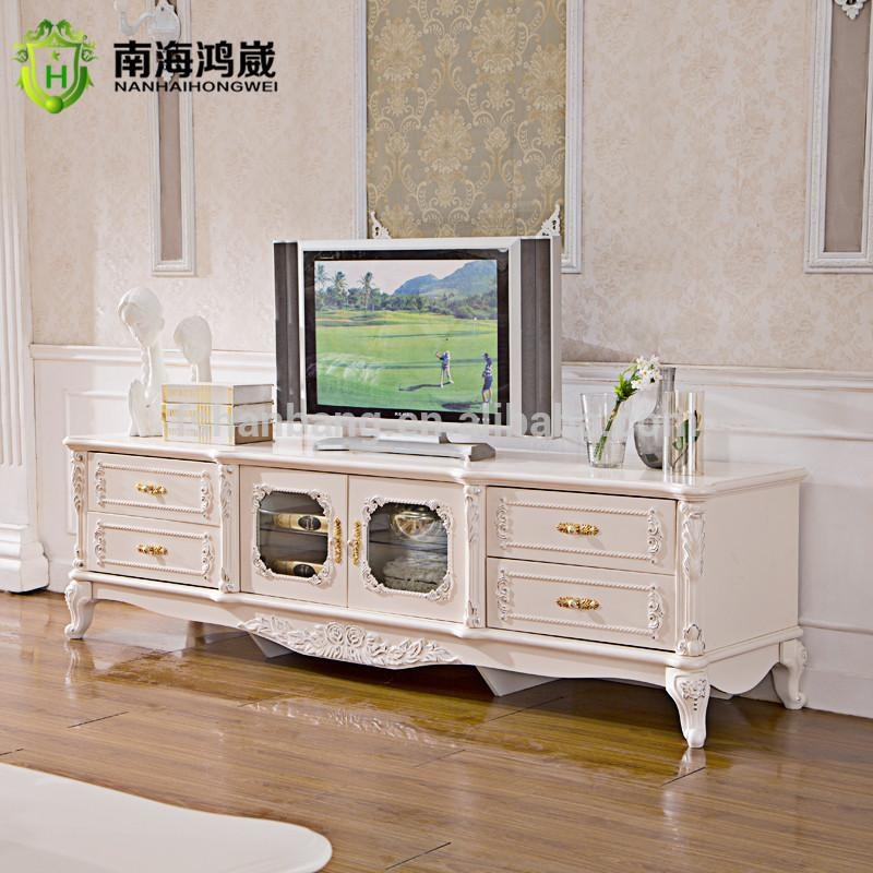 Classical French Furniture Design One Two Doors Living Room Wooden Regarding Best And Newest French Style Tv Cabinets (Image 10 of 20)