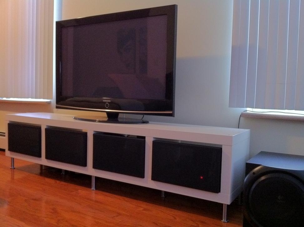 Clean Minimalist Tv Stand – Ikea Hackers – Ikea Hackers With Regard To Most Current Tv Console Table Ikea (View 12 of 20)