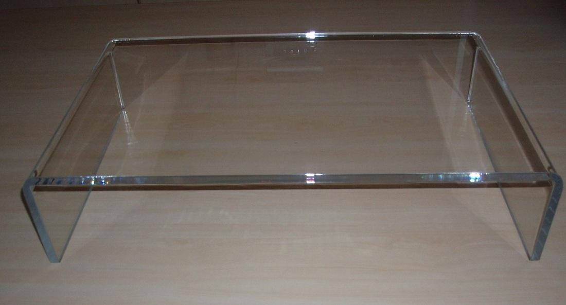 Clear Acrylic Tv Stand Or Pc Monitor Riser – Acrylic Display For Recent Clear Acrylic Tv Stands (Image 8 of 20)
