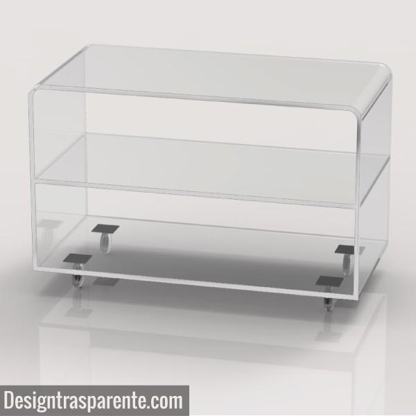 Clear Acrylic Tv Stand – Shopping Online – Designtrasparente With Regard To Most Popular Acrylic Tv Stands (Image 8 of 20)