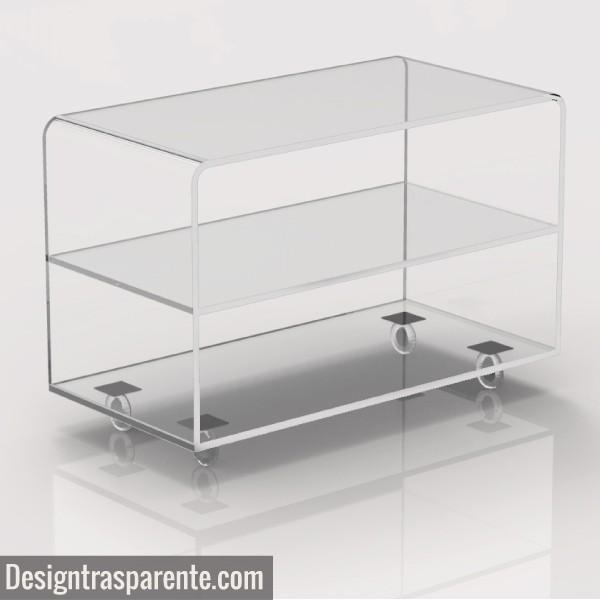Clear Acrylic Tv Stand – Shopping Online – Designtrasparente With Regard To Most Up To Date Acrylic Tv Stands (Image 9 of 20)