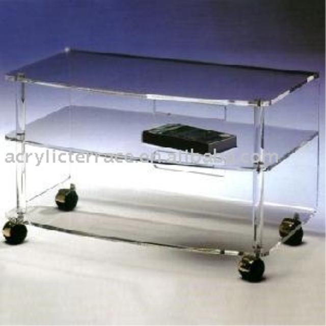 Clear Acrylic Tv Stand Table, Clear Acrylic Tv Stand Table Pertaining To Latest Clear Acrylic Tv Stands (Image 9 of 20)