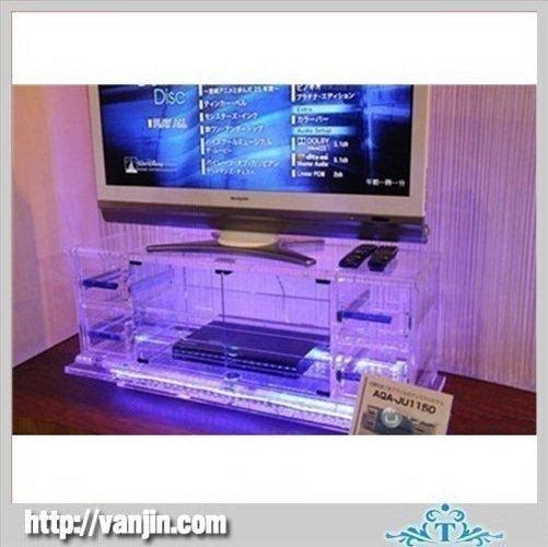 Clear Square Acrylic Tv Stand Table With Led Light Products, Buy With Most Current Acrylic Tv Stands (Image 12 of 20)