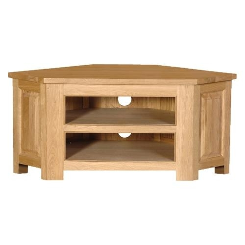 Coach House Quebec Oak Low Corner Tv Cabinet | Oak Furniture Solutions For Most Popular Low Corner Tv Cabinets (View 5 of 20)