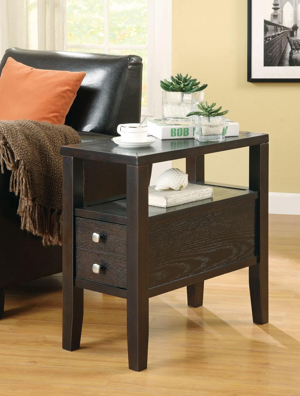 Coaster Fine Furniture 900991 Accent Casual Storage Chair Side Table Pertaining To Sofa Side Tables With Storages (Image 3 of 25)